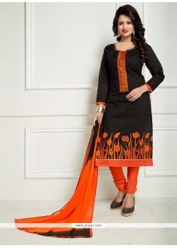Trendy Black And Orange Churidar Suit