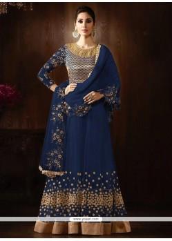 Breathtaking Net Embroidered Work Anarkali Salwar Kameez