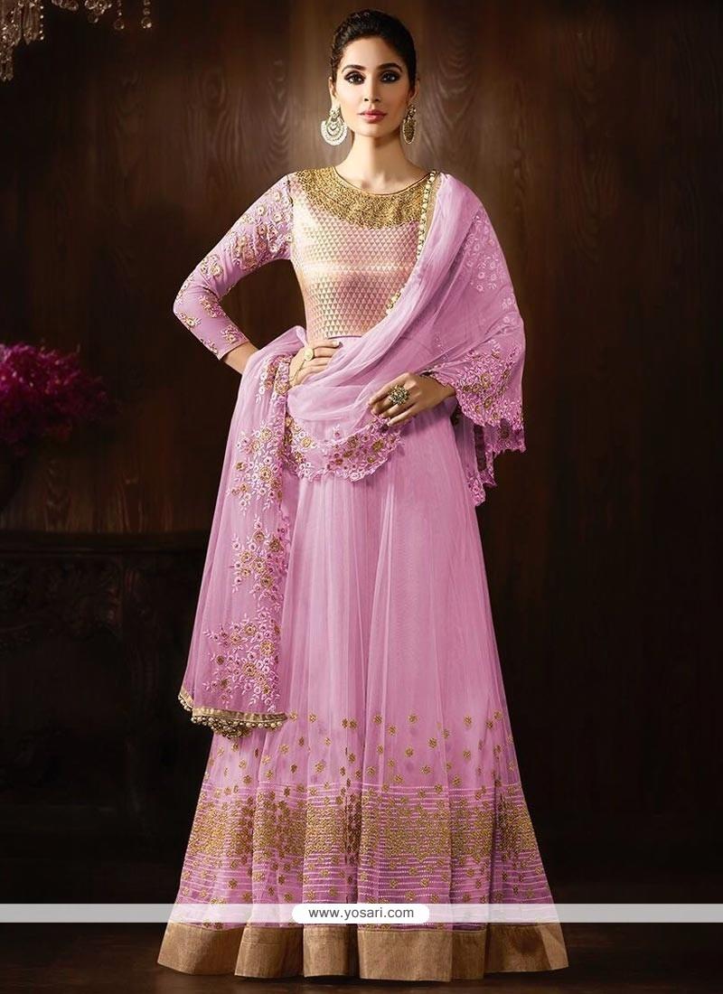 Monumental Pink Anarkali Salwar Kameez