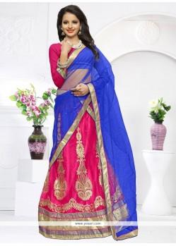 Charming Net Embroidered Work Lehenga Choli