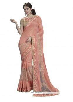Divine Patch Border Work Net Classic Designer Saree