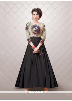Fabulous Faux Georgette Digital Print Work Party Wear Kurti