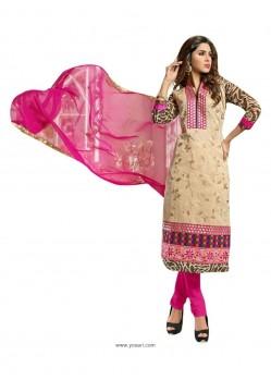 Modernistic Chanderi Embroidered Work Churidar Suit
