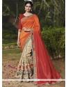 Fashionable Handloom Silk Print Work Classic Designer Saree