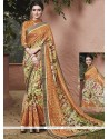 Pleasance Multi Colour Handloom Silk Printed Saree