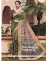 Majesty Green Print Work Printed Saree
