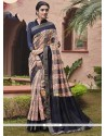 Haute Multi Colour Handloom Silk Printed Saree