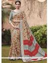 Beckoning Print Work Multi Colour Printed Saree