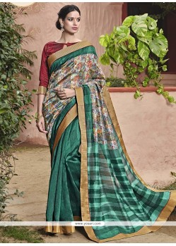 Cute Handloom Silk Printed Saree