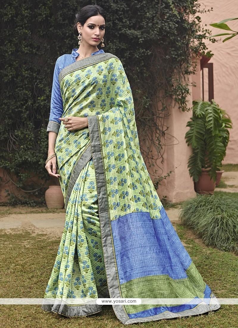 Delightsome Print Work Multi Colour Printed Saree
