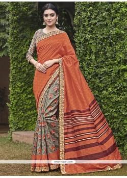 Staggering Multi Colour Printed Saree
