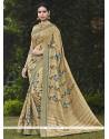 Excellent Handloom Silk Print Work Printed Saree