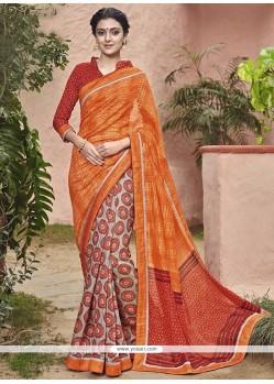 Princely Handloom Silk Print Work Printed Saree