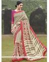 Wonderous Multi Colour Handloom Silk Printed Saree