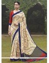 Dazzling Handloom Silk Multi Colour Printed Saree