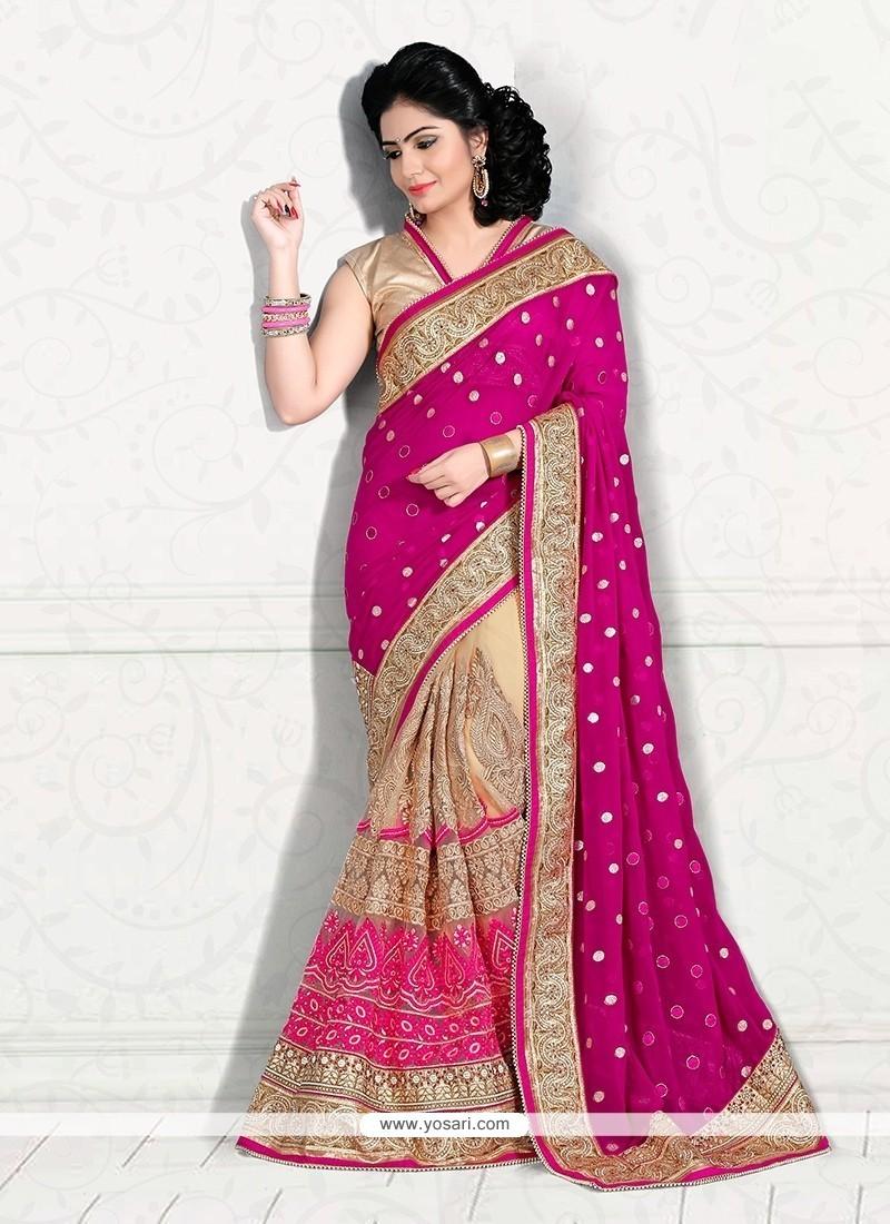 Elite Designer Half N Half Saree For Bridal