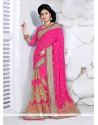 Spellbinding Hot Pink Classic Designer Saree