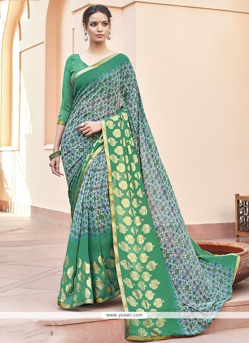 Fabulous Faux Georgette Printed Saree