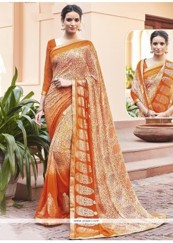 Adorning Faux Georgette Printed Saree