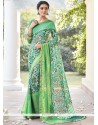 Delightsome Faux Georgette Print Work Printed Saree