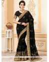 Awesome Faux Georgette Embroidered Work Classic Saree