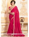 Perfect Faux Chiffon Lace Work Classic Designer Saree