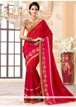 Wonderous Red Saree