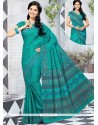 Perfect Multi Colour Abstract Print Work Cotton Printed Saree