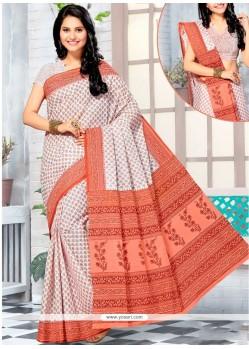 Noble Cotton Print Work Printed Saree