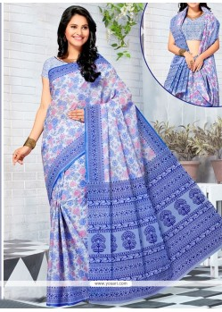 Exquisite Cotton Multi Colour Printed Saree