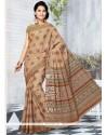 Glitzy Multi Colour Print Work Cotton Printed Saree