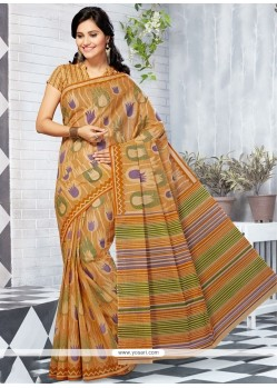 Blooming Multi Colour Cotton Printed Saree