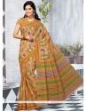 Blooming Multi Colour Cotton Printed Saree
