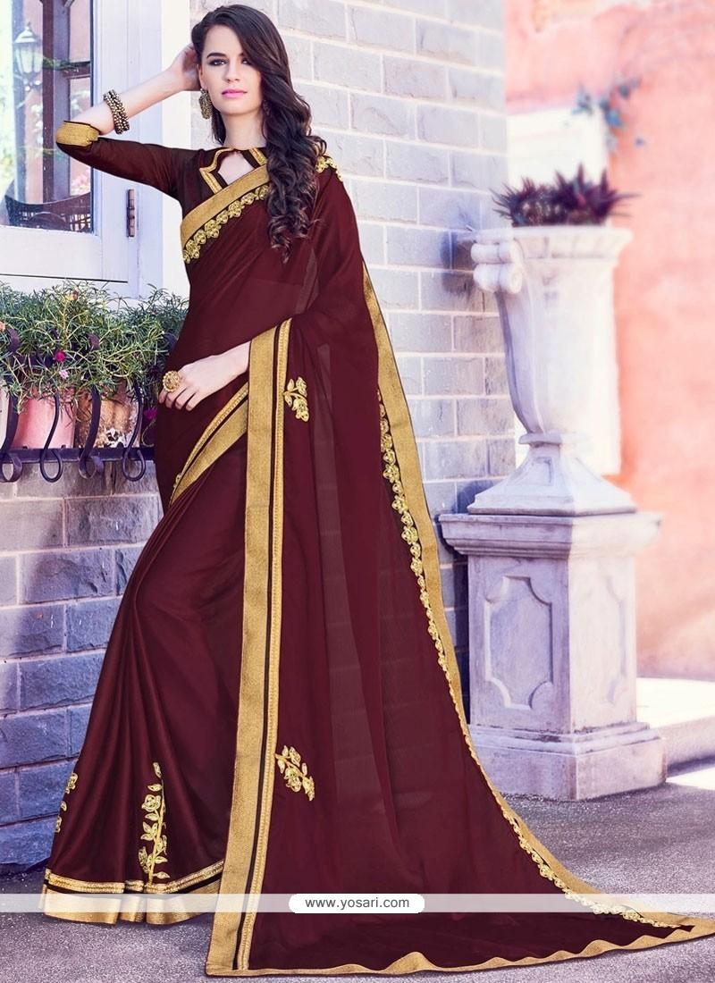 Girlish Chiffon Satin Saree
