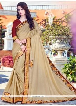 Splendid Beige Fancy Fabric Saree