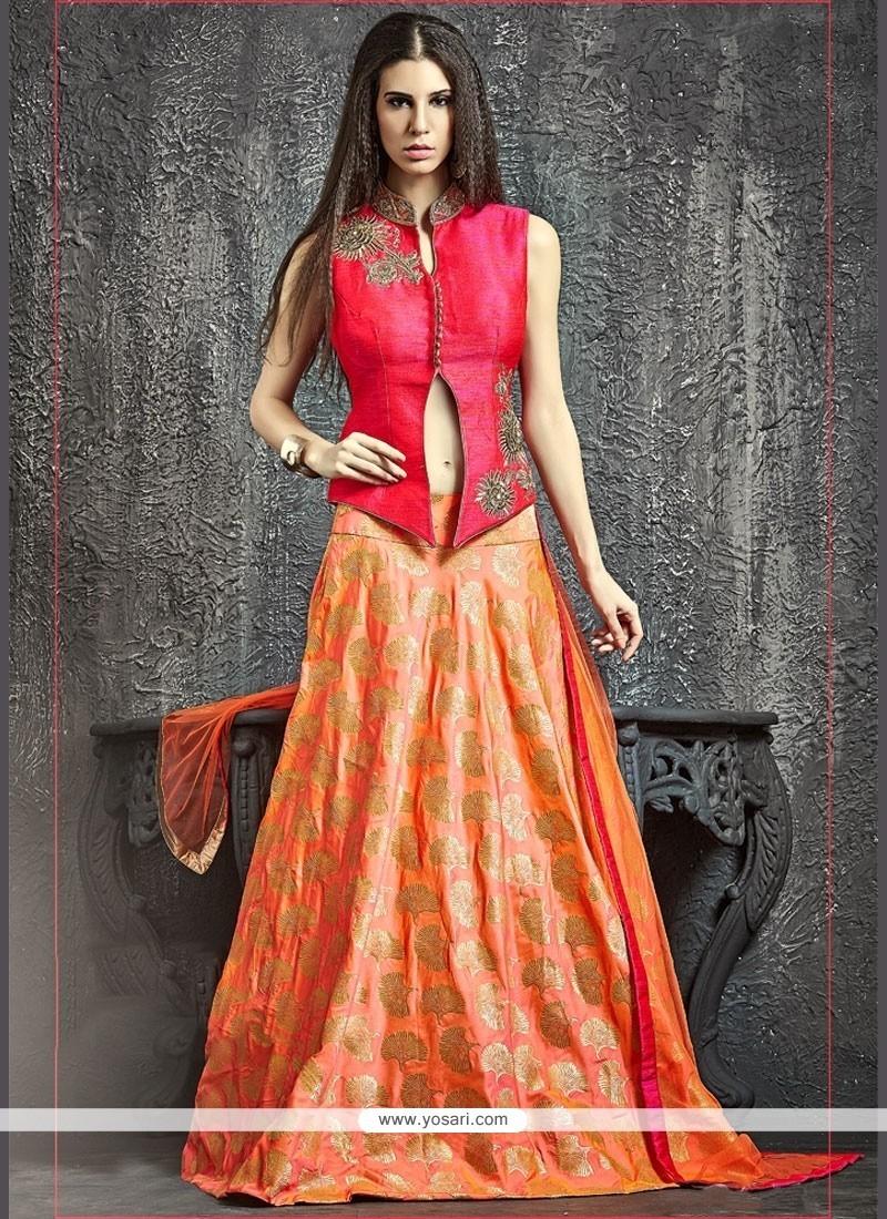 Genius Banarasi Silk Kasab Work Lehenga Choli