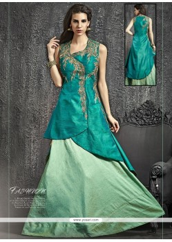 Beautiful Kasab Work Raw Silk Lehenga Choli