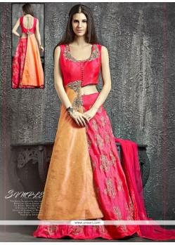 Heavenly Raw Silk Lehenga Choli