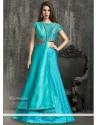 Exceeding Kasab Work Turquoise Lehenga Choli