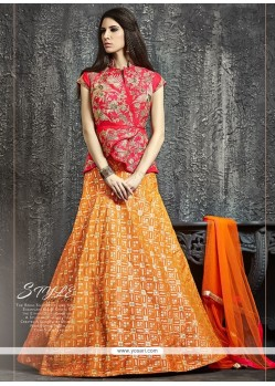 Dazzling Zari Work Raw Silk Lehenga Choli