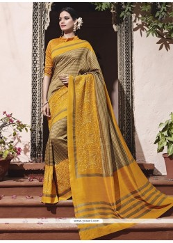Monumental Patch Border Work Traditional Saree