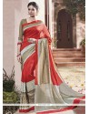 Groovy Art Silk Patch Border Work Traditional Saree