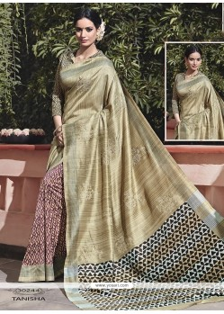 Enchanting Print Work Multi Colour Traditional Saree