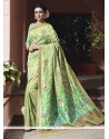 Blooming Art Silk Sea Green Traditional Saree