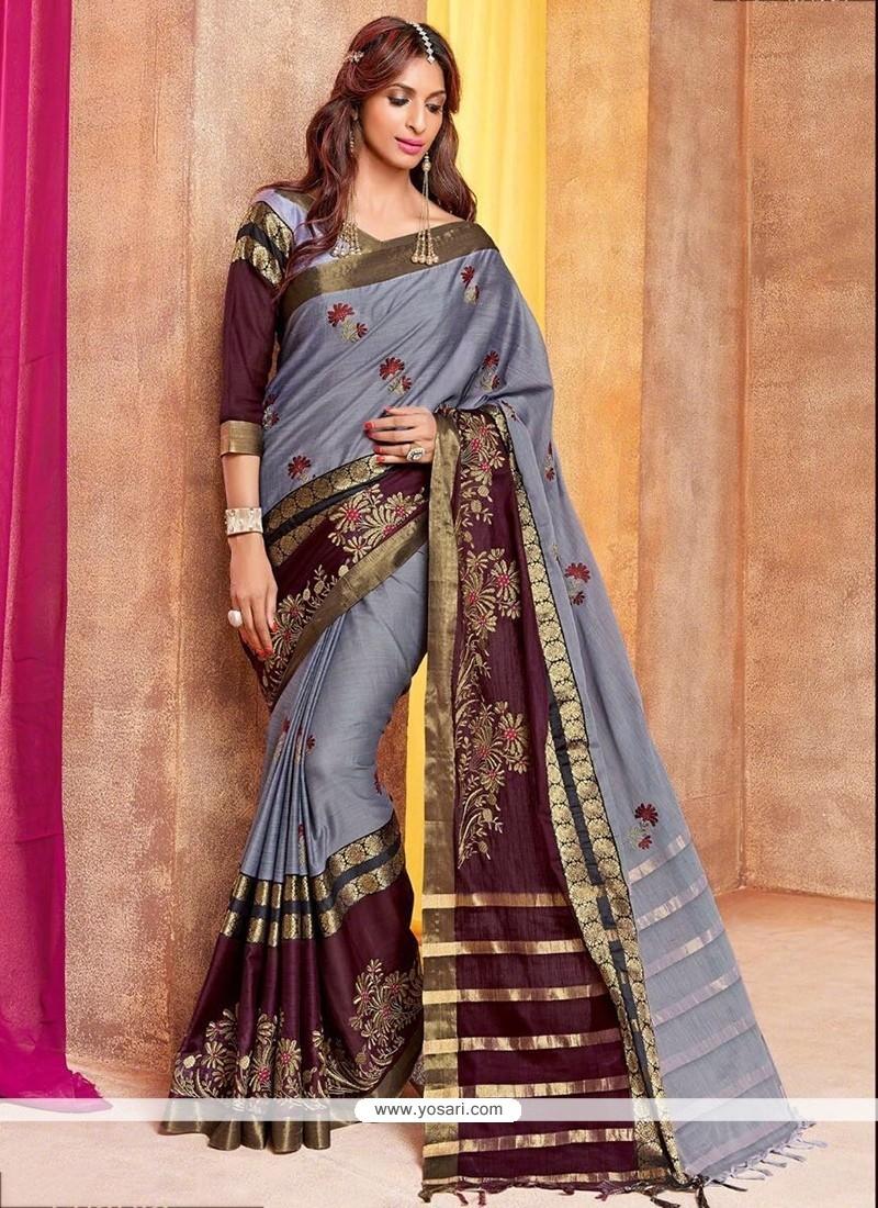 Fantastic Cotton Silk Traditional Saree