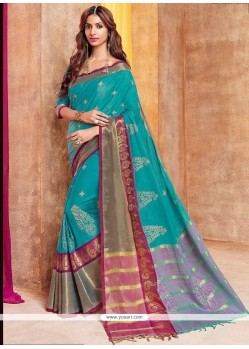 Scintillating Cotton Silk Traditional Saree