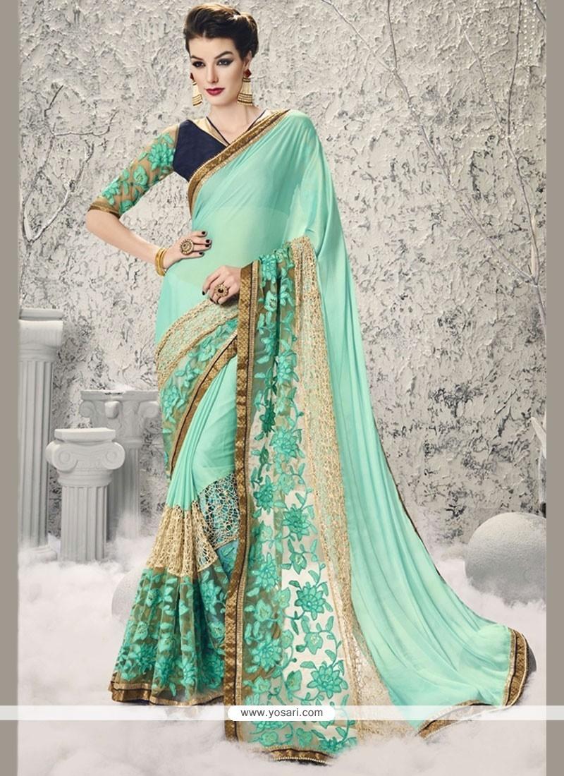 Affectionate Zari Work Designer Half N Half Saree