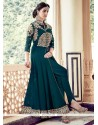 Prime Embroidered Work Faux Georgette Designer Floor Length Suit