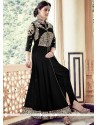 Fab Black Designer Floor Length Suit