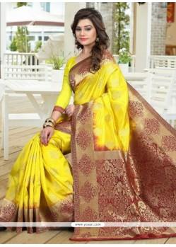 Perfervid Weaving Work Designer Traditional Saree